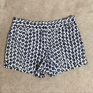Loft Eyelet Navy & White Shorts